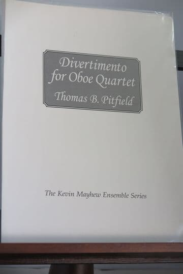 Pitfield T B - Divertimento for Oboe Quartet
